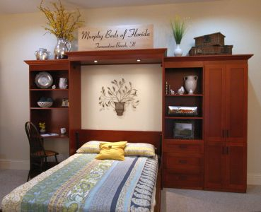 Full-sized Murphy Bed with 3 side cabinets