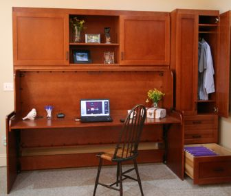 Twin StudyBED™ with top and side cabinetry